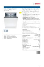 Product informatie BOSCH vaatwasser inbouw SGH4HCX48E