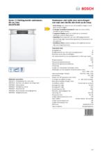 Product informatie BOSCH vaatwasser inbouw SGI2ITS33E
