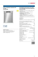 Product informatie BOSCH vaatwasser onderbouw SGU4HCS48E