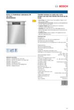 Product informatie BOSCH vaatwasser onderbouw SGU4HVS31E