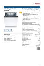 Product informatie BOSCH vaatwasser inbouw SGV2ITX22E