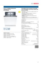 Product informatie BOSCH vaatwasser inbouw SGV4HAX48E