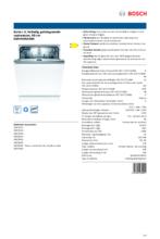 Product informatie BOSCH vaatwasser inbouw SMV4HAX40N