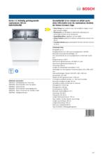 Product informatie BOSCH vaatwasser inbouw SMV4HAX48E