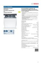 Product informatie BOSCH vaatwasser inbouw SMV84L10EU