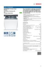 Product informatie BOSCH vaatwasser inbouw SMV86M50EU