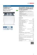 Product informatie BOSCH vaatwasser inbouw SMV86M60EU