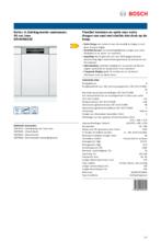 Product informatie BOSCH vaatwasser inbouw SRI4HKS53E