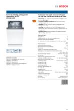 Product informatie BOSCH vaatwasser inbouw SRV2IKX10E