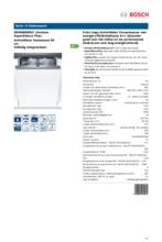 Product informatie BOSCH vaatwasser inbouw verhoogd SBV86M60EU