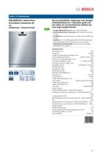 Product informatie BOSCH vaatwasser onderbouw SMU59M25EU