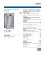 Product informatie BOSCH vaatwasser rvs-look SRS2HKI59E