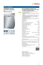 Product informatie BOSCH vaatwasser rvs SMS50D48EU