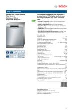 Product informatie BOSCH vaatwasser rvs SMS88TI01E