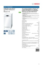 Product informatie BOSCH vaatwasser smal SPS69T32EU