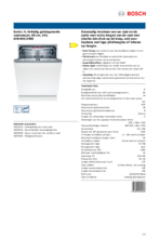 Product informatie BOSCH vaatwasser verhoogd inbouw SHH4HCX48E