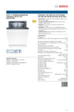 Product informatie BOSCH vaatwasser verhoogd inbouw SHV2ITX22E