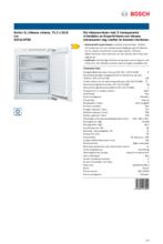 Product informatie BOSCH vrieskast inbouw GIV11AFE0