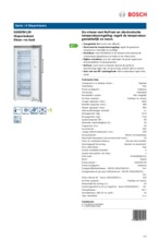Product informatie BOSCH vrieskast rvs-look GSN29VL30