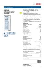 Product informatie BOSCH vrieskast rvs GSD36PI20