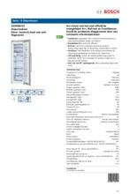 Product informatie BOSCH vrieskast rvs GSN36AI31