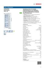 Product informatie BOSCH vrieskast wit GSN33AW30