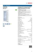 Product informatie BOSCH vrieskast wit GSN33VW30
