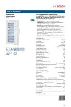 Product informatie BOSCH vrieskast wit GSN54AW41