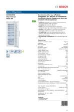 Product informatie BOSCH vrieskast wit GSN58AW30