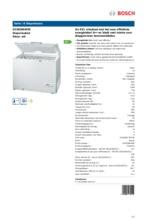 Product informatie BOSCH vrieskist wit GCM28AW30