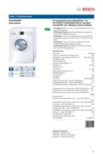 Product informatie BOSCH wasmachine WAE28468NL