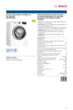 Product informatie BOSCH wasmachine WAL28PH0NL