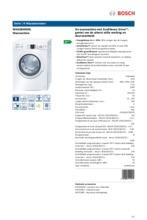 Product informatie BOSCH wasmachine WAQ28446NL