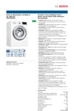 Product informatie BOSCH wasmachine WAT28493NL