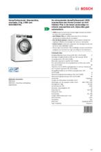 Product informatie BOSCH wasmachine WAV28EH7NL
