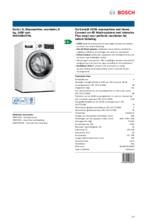 Product informatie BOSCH wasmachine WAV28KH7NL