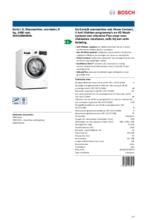 Product informatie BOSCH wasmachine WAV28MH0NL