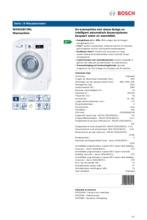 Product informatie BOSCH wasmachine WAW32672NL