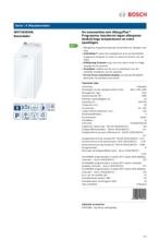 Product informatie BOSCH wasmachine bovenlader WOT24255NL