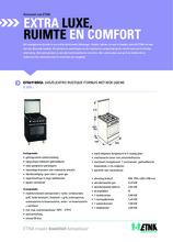 Product informatie ETNA fornuis matzwart EFG691BRCA
