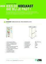 Product informatie ETNA koelkast EKV1802WIT