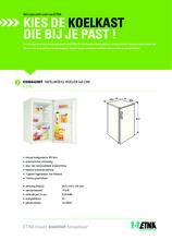 Product informatie ETNA koelkast tafelmodel EKK0842WIT