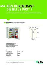 Product informatie ETNA koelkast tafelmodel EKK0852WIT