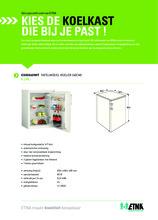 Product informatie ETNA koelkast tafelmodel EKK0860WIT
