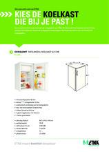 Product informatie ETNA koelkast tafelmodel EKV0842WIT
