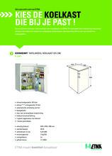 Product informatie ETNA koelkast tafelmodel EKV0852WIT