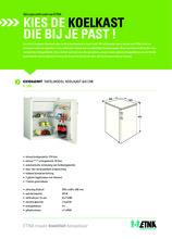 Product informatie ETNA koelkast tafelmodel EKV0860WIT