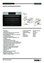 Product informatie ETNA oven met magnetron inbouw CM450RVS