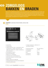 Product informatie ETNA oven zwart A3405FTZT