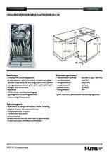 Product informatie ETNA vaatwasser inbouw smal VW47SM